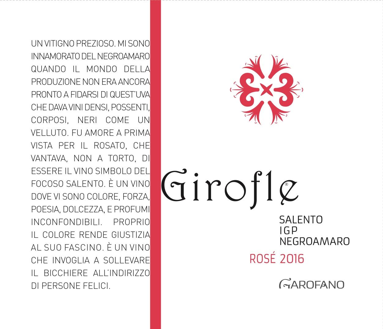 Girofle Negroamaro Rosato Vini Garofano