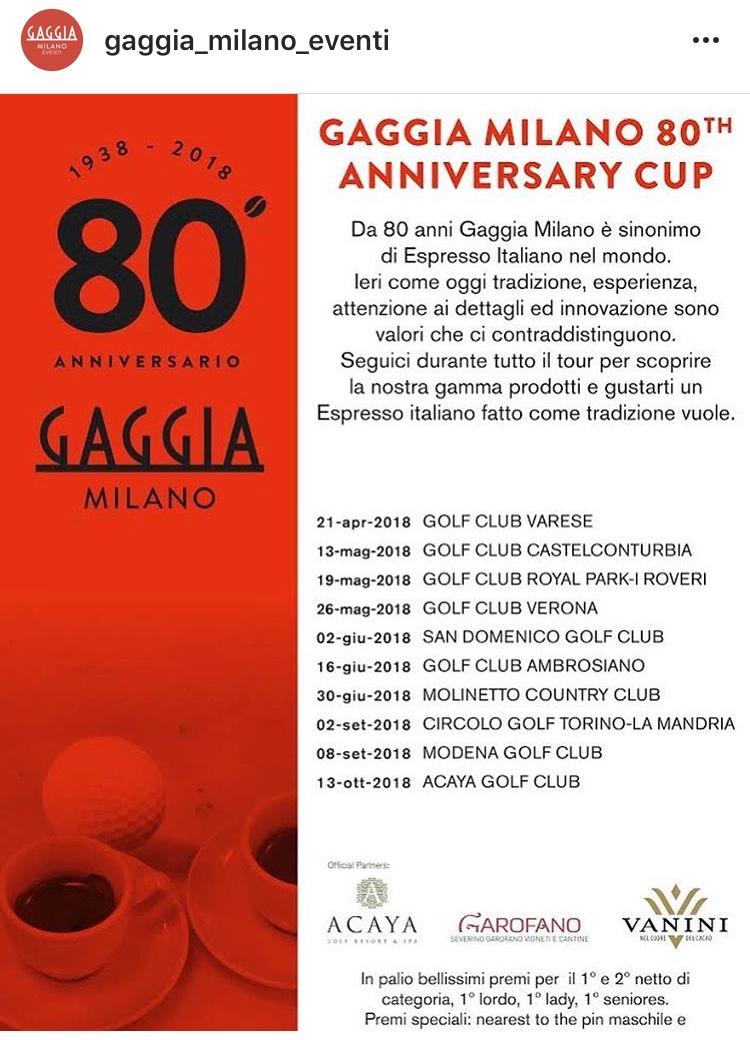 Acaya Golf Club Calendario Gare.Winepartner Per Gaggia Milano Golf Cup 2018 Vini Garofano