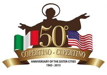 logo 50° anniversario gemellaggio Copertino-Cupertino